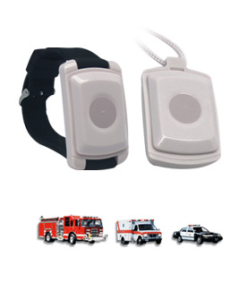 Life Alert's medical alert pendant can be worn around the neck or on the wrist.